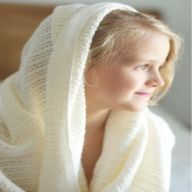 Personalised Knitted Blanket - White