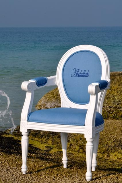 PERSONALISED Louis XIV Children�s Chair Blue