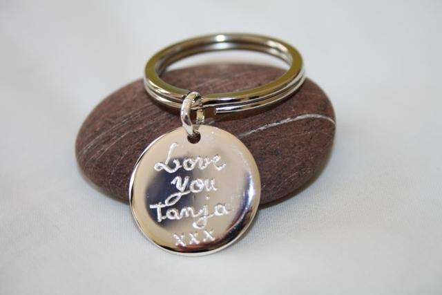 A Personalised Sterling Silver Key Ring