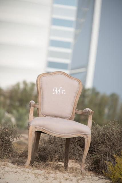 Personalised Mr and Mrs Chair
