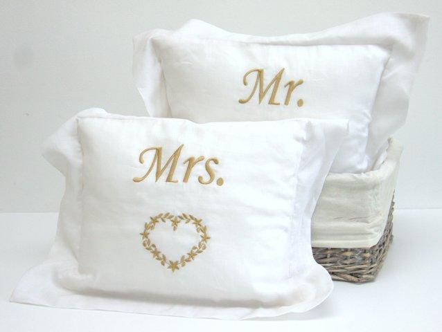 MR & MRS LINEN PILLOWS