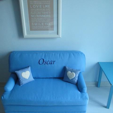 Personalised Child's Sofa Bed, Blue