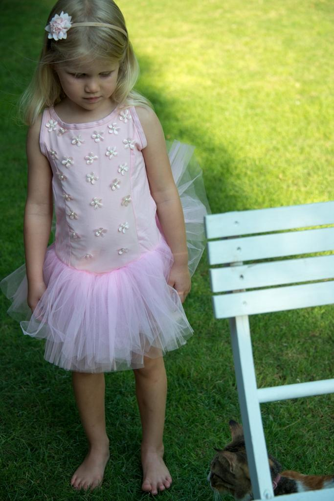 Coochy Coo Tutu Dress - Pure pink with little cute flowers on to