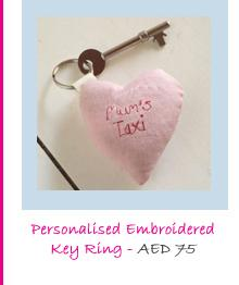 Personalised Embroidered Key Ring
