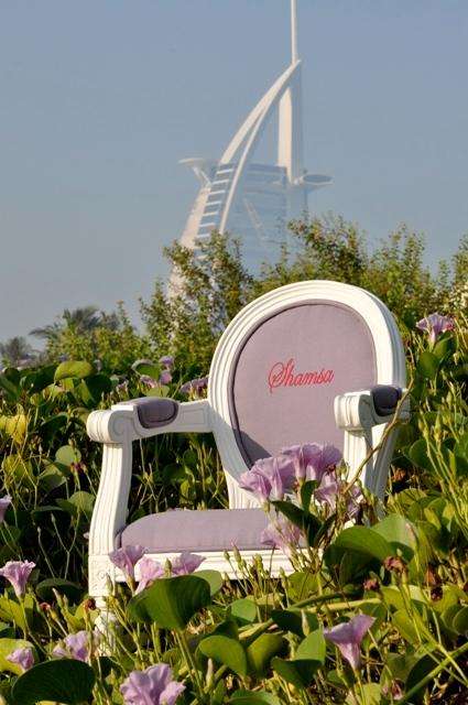 Personalised Louis XIV children's chair Lilac