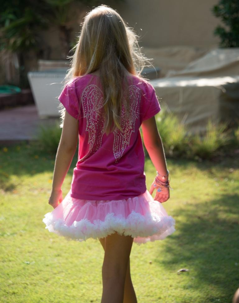Coochy Coo Tutu- Pink skirt with white lining