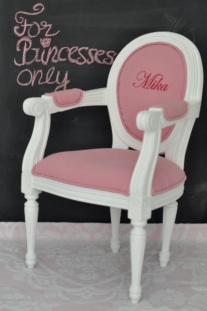 PERSONALISED Louis XIV Children's Chair Pink