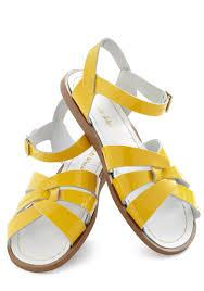 Adult Salt Water Sandal Women-Yellow